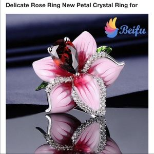 Red crystal ross ring